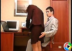Nora&Vitas secretary pantyhose sex video