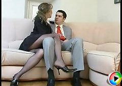 Leila&Adam videotaped while pantyhosing